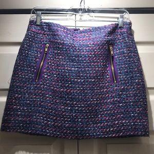 J Crew Tweed Mini Skirt